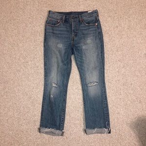 Vintage Levi's distressed high-rise jeans